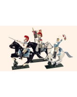 0744 Toy Soldiers Set French Carabiniers Painted