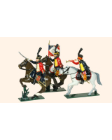 0754 Toy Soldiers Set French Hussars Painted
