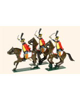 0755 Toy Soldiers Set French Hussars Painted