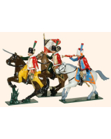 0758 Toy Soldiers Set French Chasseurs a Cheval de la Garde Painted